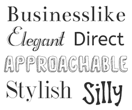 Creating personality from fonts